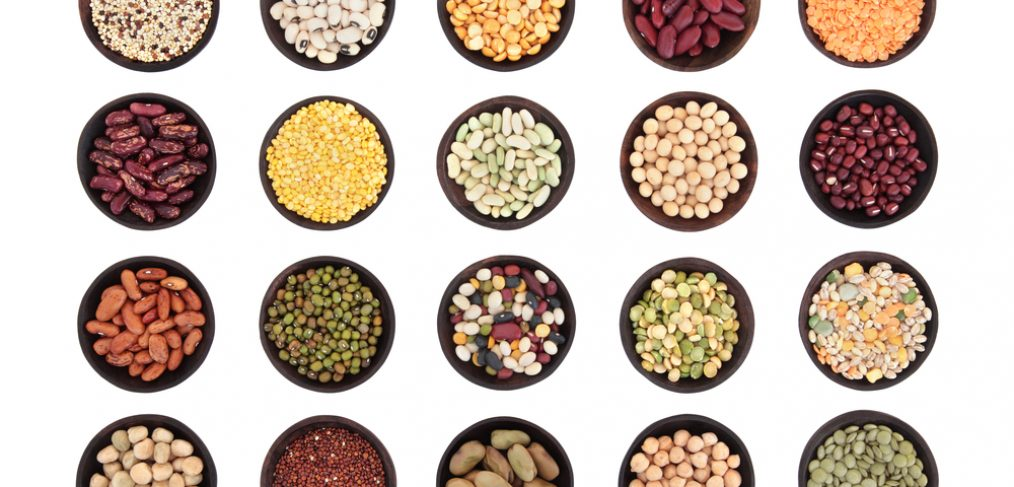 Many bowls of different super foods