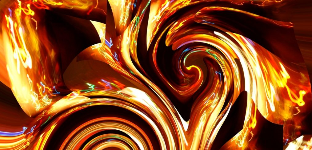 Abstract art showing beautiful use of color. q