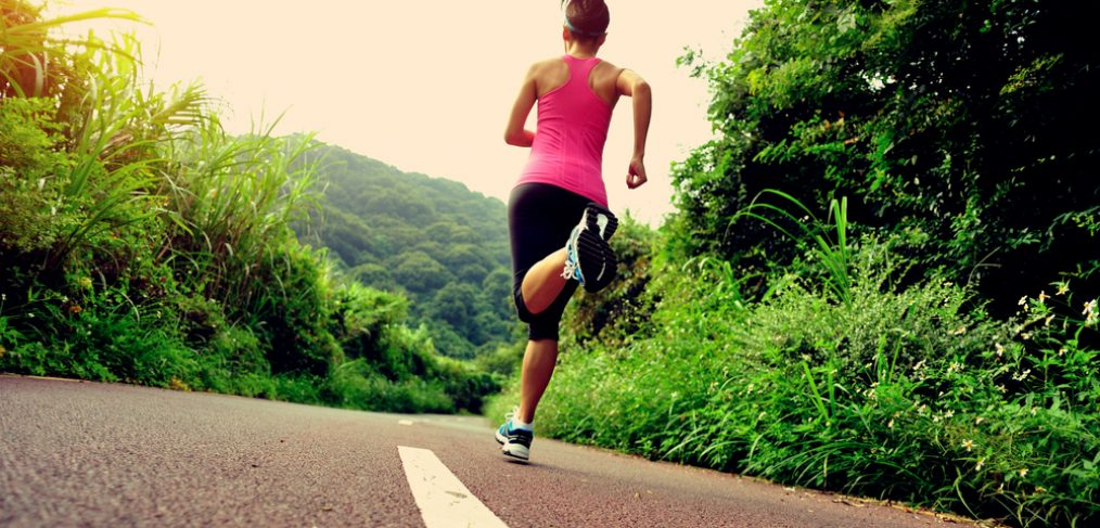 Woman jogging in the morning.
