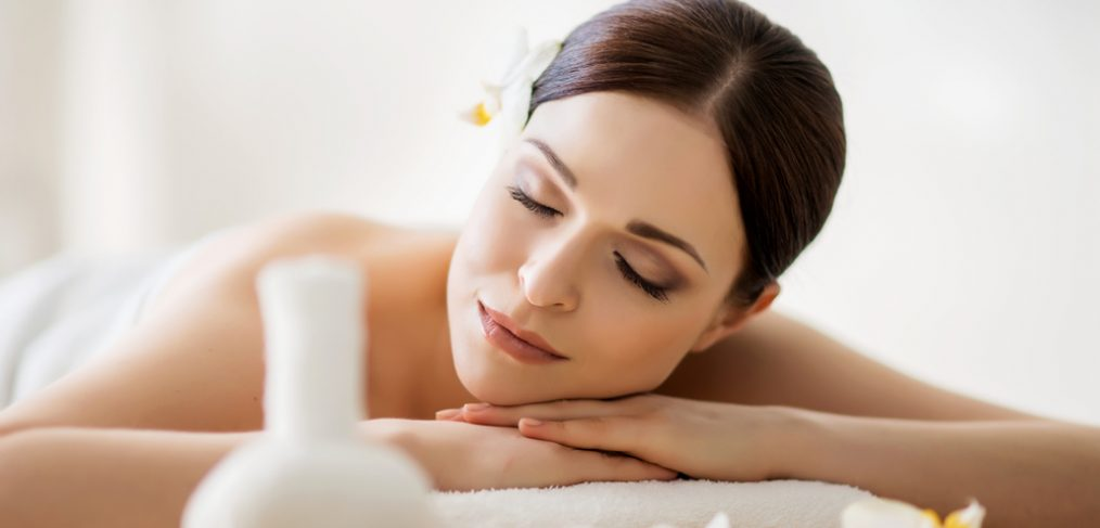Woman getting aromatherapy