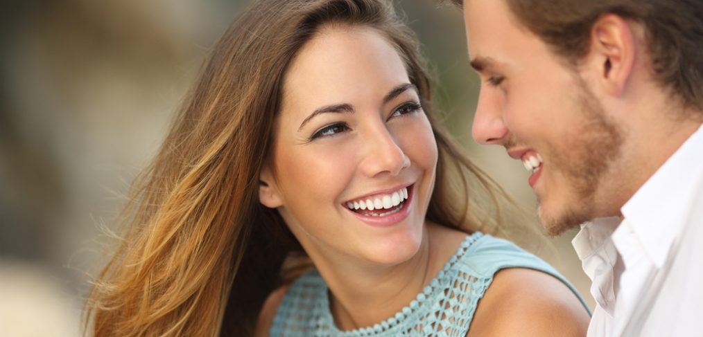 Woman smiling at her partner