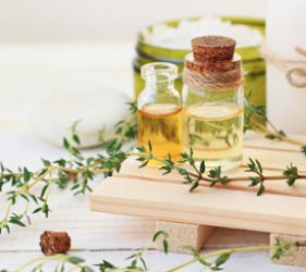 Small vials of botanical oils