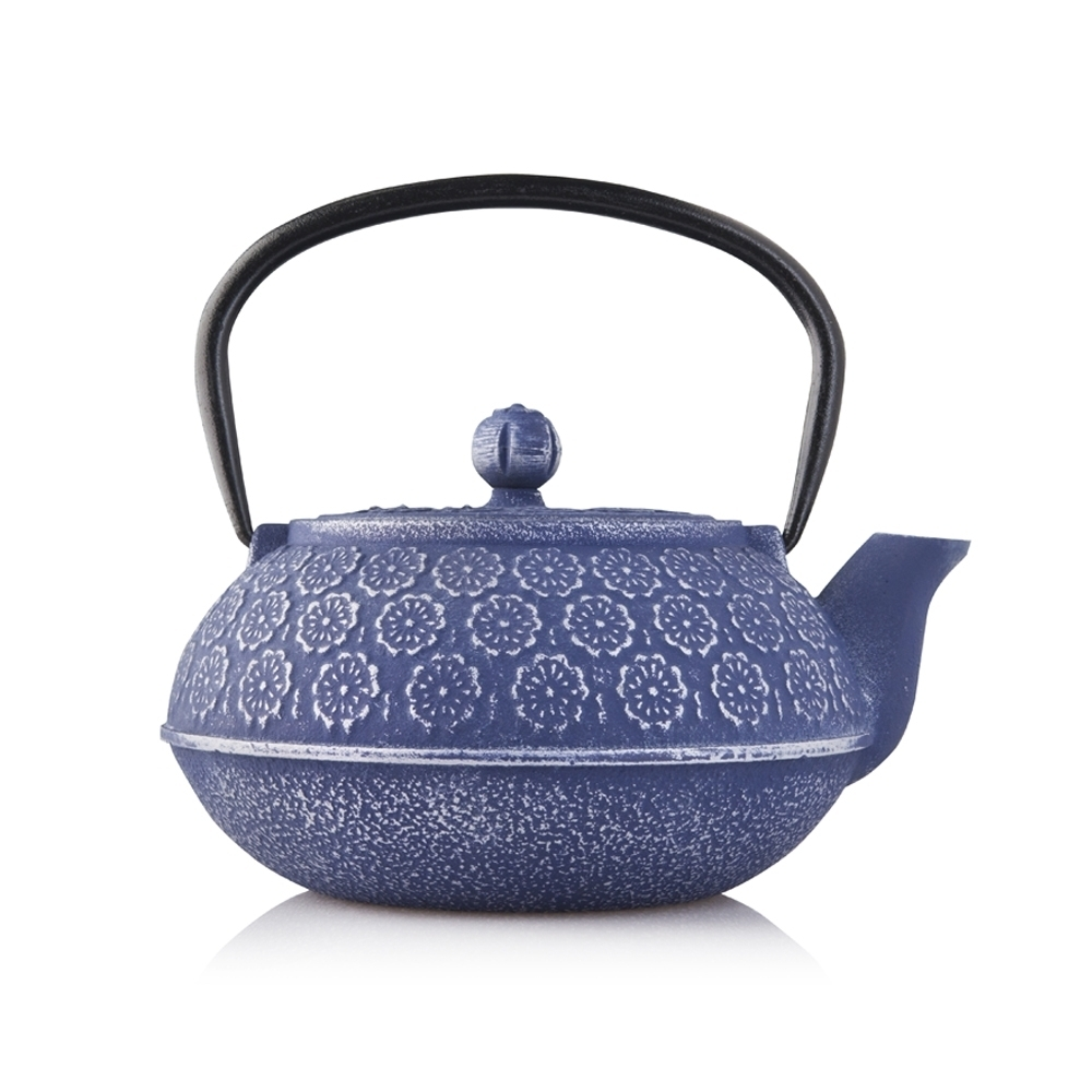 Resveralife Cast Iron Teapot Lilac Blossom